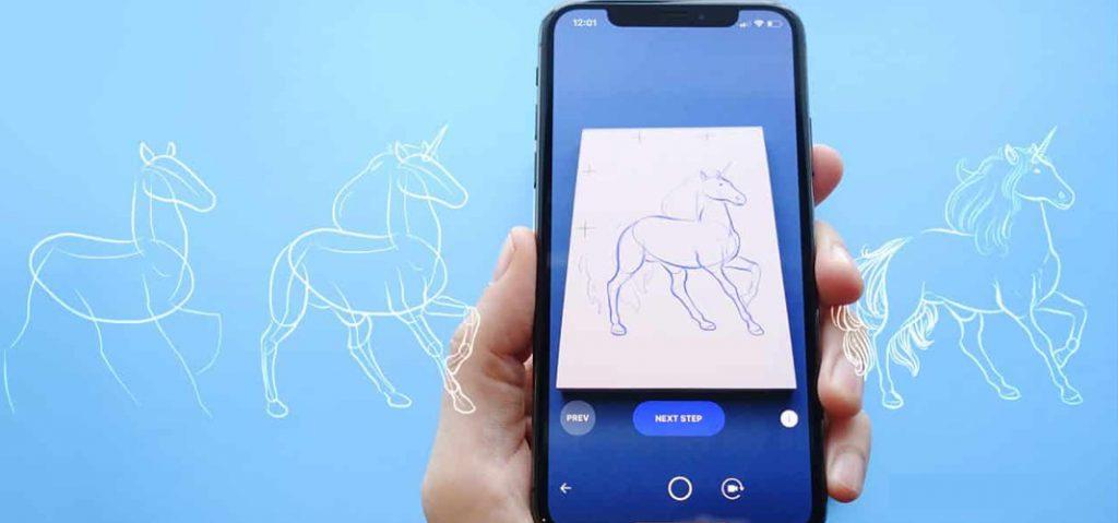 SketchAR augmented reality app