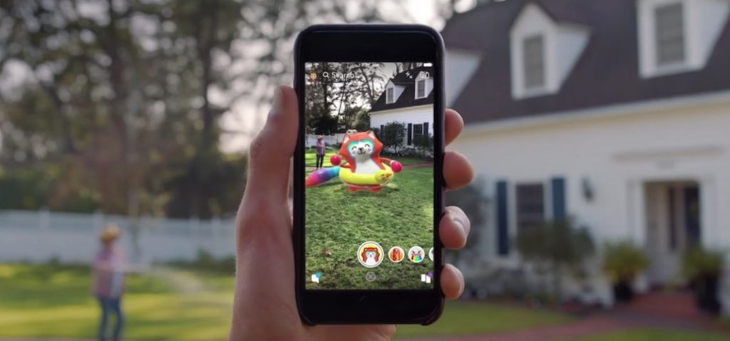 Snapchat augmented reality app
