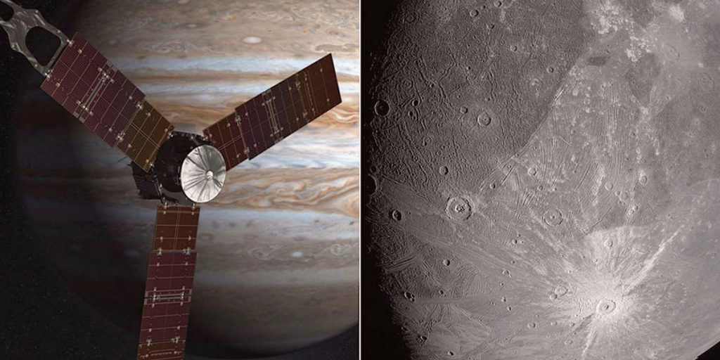 NASAs Juno Probe at Jupiter Beamed Back Close Up Photos of the Planets Largest Moon Ganymede for the First Time in 2 Decades