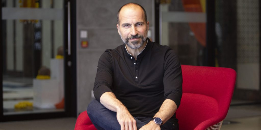 Uber CEO Aims for 'Fully Green' Food-Delivery Business